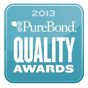 2013 purebond quality award