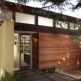 mid-century renovation with blomberg window systems and ipe rainscreen
