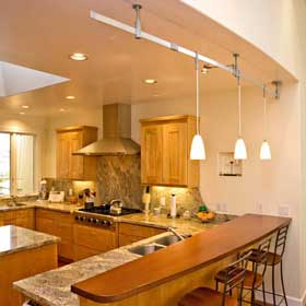 pendant lighting in bay area home remodel